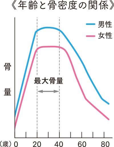 年齢と骨密度の関係